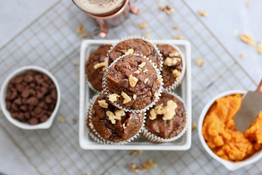 grain free pumpkin chip muffins